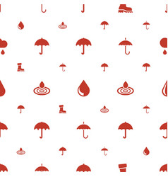 rain icons pattern seamless white background vector image