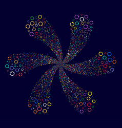 Rotation centrifugal spin vector