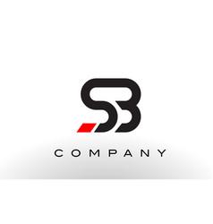 Sb logo letter design vector