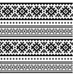 seamless folk art pattern lapland design vector image