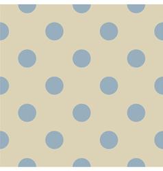 Seamless pastel polka dots pattern vector image