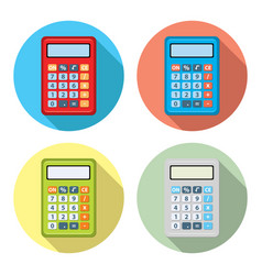 set of calculator icons vector image