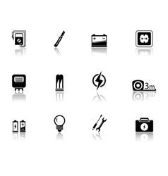 Set of electrical equipment vector