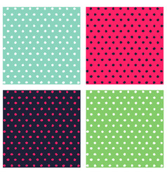 Set seamless colorful dots pattern vector
