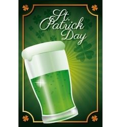 St patrick day glass beer celebration traditional vector