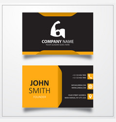 Strong arm icon business card template vector