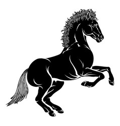 stylised horse vector image