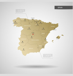 Stylized spain map vector