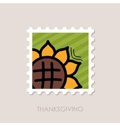 Sunflower stamp Harvest Thanksgiving vector