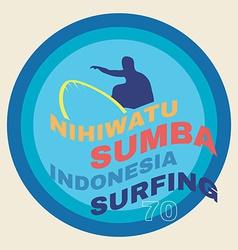 surf t-shirt graphics vector image