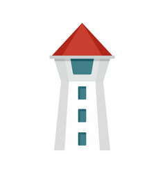 taipei tower icon flat style vector image
