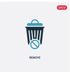 Two color remove icon from user interface concept vector