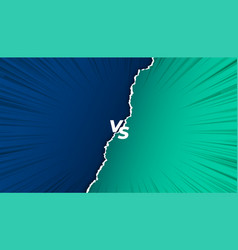 Versus vs screen background in torn paper style vector