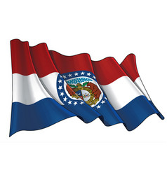 Waving flag state missouri vector