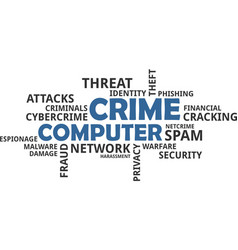 Word cloud - computer crime vector