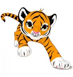 cartoon baby tiger vector image