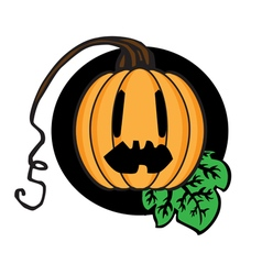Celebratory pumpkin vector