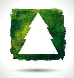 Grunge christmas background vector image