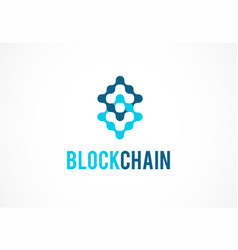 logo concept for blockchain and fintech industry vector image