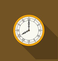 retro roman numerals wall clock vector image