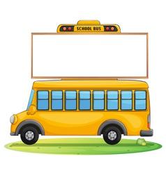 a school bus and board vector image