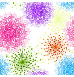 Colorful Hydrangea Flower Seamless Background vector image