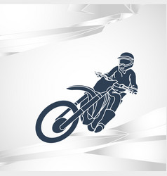 motor sport logo icon vector image
