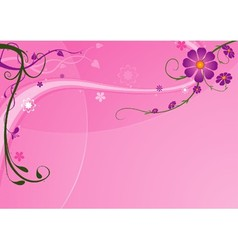 Pink Background And Florals vector image vector image