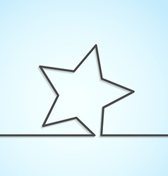 Star icon abstract modern background template vector image