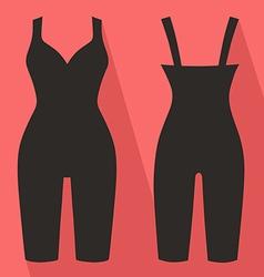 Woman silhouette slimming underwear vector