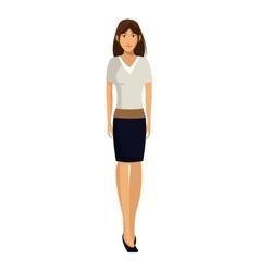 Woman white shirt business work vector