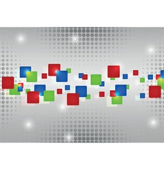 Abstract red blue green rectangles vector image vector image