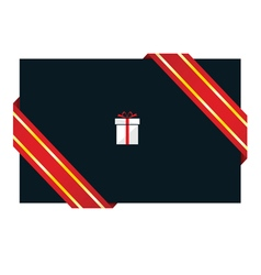 card with gift box vector image vector image