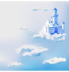 castle in the clouds Dream sky palace vector image vector image