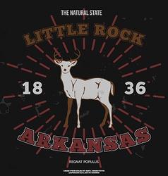 Little Rock Arkansas t-shirt graphic vector image vector image