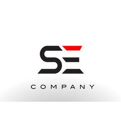 se logo letter design vector image