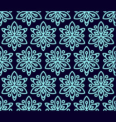 seamless pattern with clematis vector image vector image