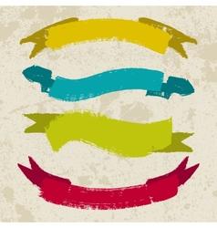 Set of grunge ribbons vector image