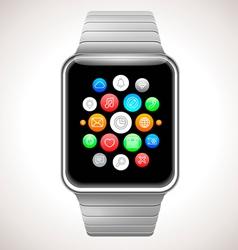 Smart Watch Concept Realistic vector image vector image