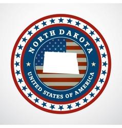 Vintage label North Dakota vector image vector image