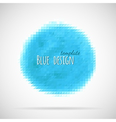 Blue triangle banner vector image vector image