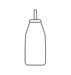 Feeding bottle or baby bottle vector