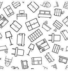furniture seamless pattern background business vector image
