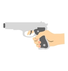 Hand with gun icon flat style vector image