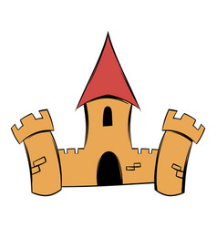 medieval castle fortress icon cartoon vector image
