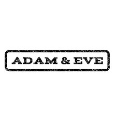 Adam eve watermark stamp vector