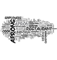 Apron kw text word cloud concept vector