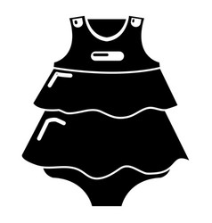 baby dress icon simple black style vector image