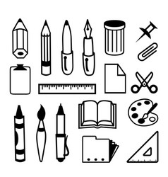 back to school office stationery icon vector image