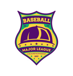 Baseball major league vintage isolated label vector